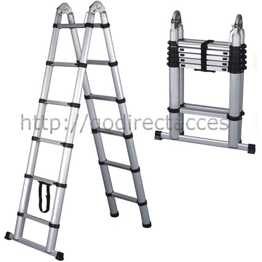 Escalera telesc pica aluminio ideas materiales construcci n for Precio escalera telescopica aluminio