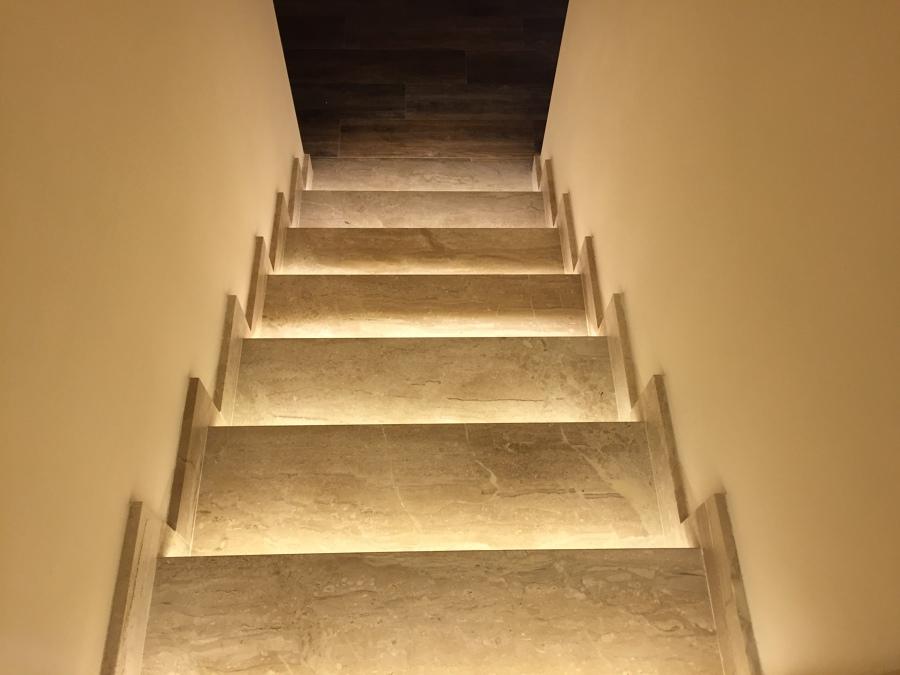 Escalera vista desde arriba