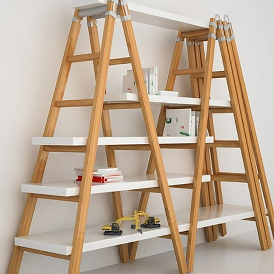 C mo crear estanter as con escaleras ideas art culos decoraci n - Librerias con escalera ...