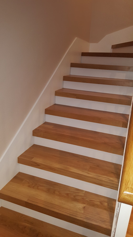 escaleras de madera con estilo propio