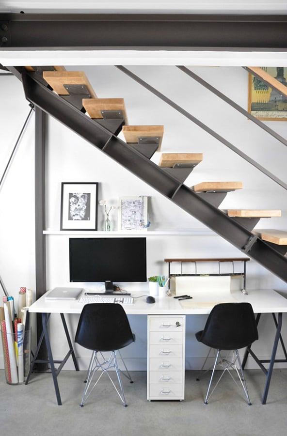 Foto escritorio hueco escaleras de miv interiores 902647 habitissimo - Huecos de escalera ...