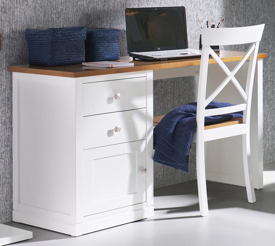 Foto escritorio contemporaneo en blanco y madera 807086 - Escritorios en blanco ...