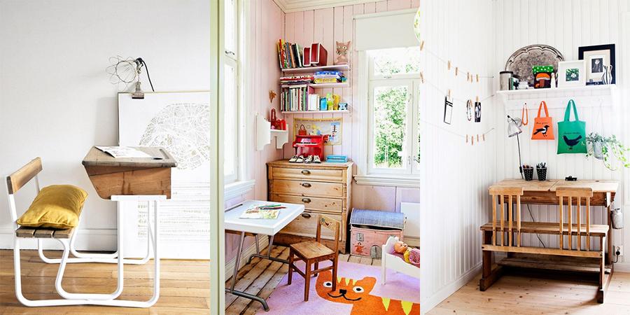 Suelos muebles y maletas mi hogar vintage ideas - Dormitorios infantiles vintage ...