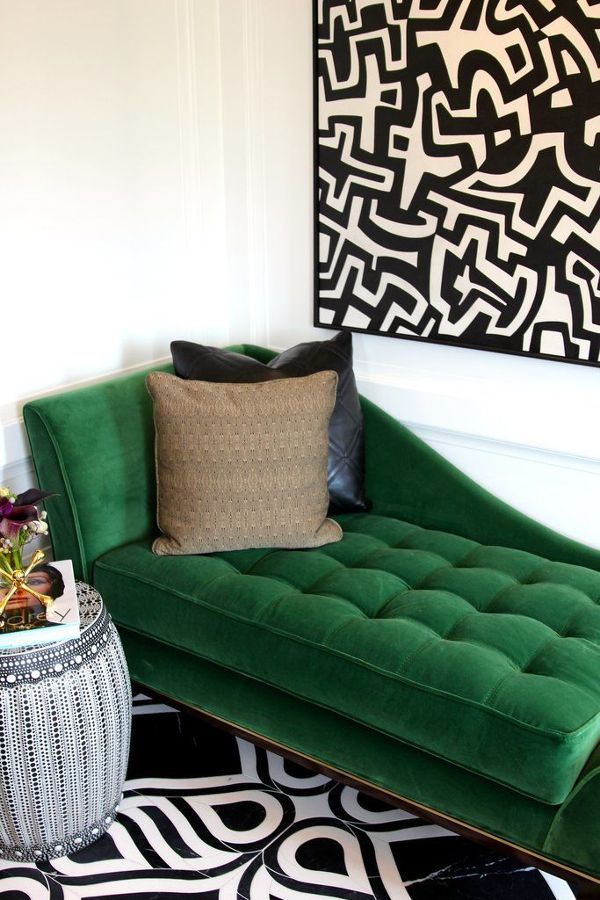 diván verde