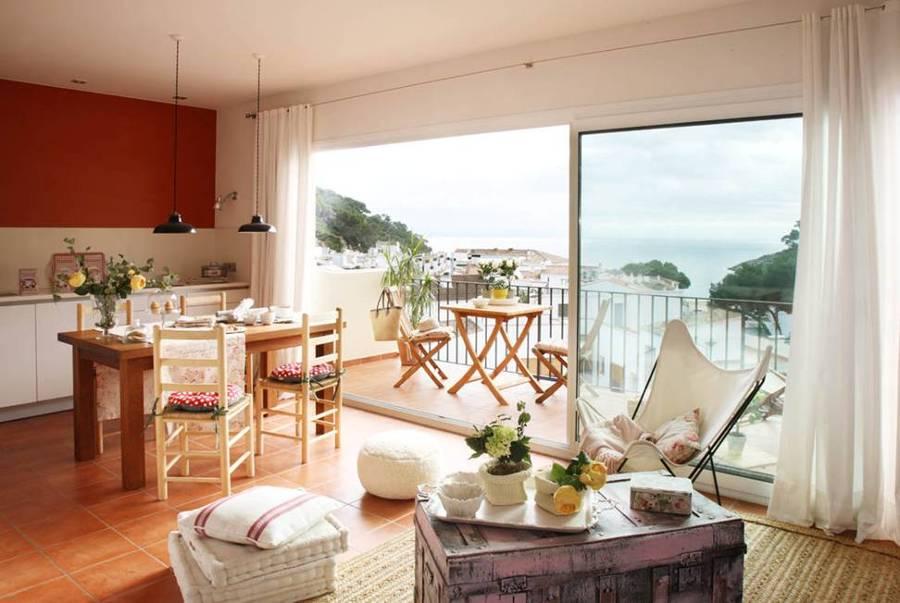 Acogedor apartamento en el que la brisa marina lo inunda - Decorar apartamento playa ...