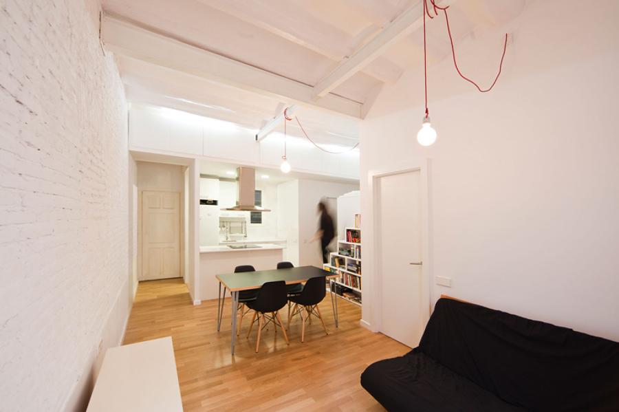 Espacio principal de cocina comedor y salón