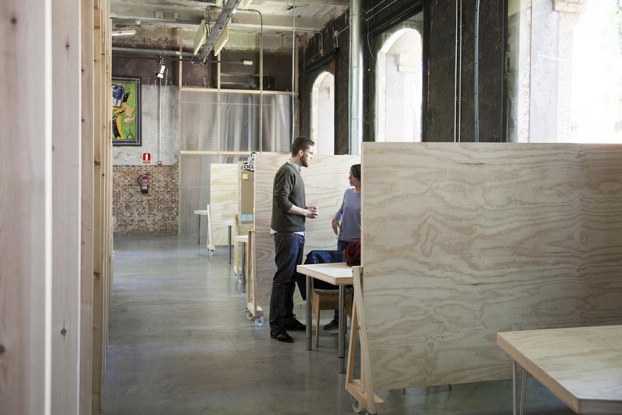 Espacios de trabajo individual o en grupos reducidos