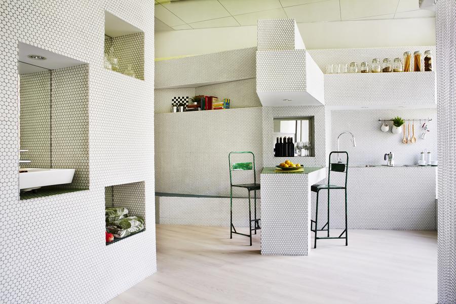 las 4 mejores reformas de menos de 40 m ideas arquitectos. Black Bedroom Furniture Sets. Home Design Ideas