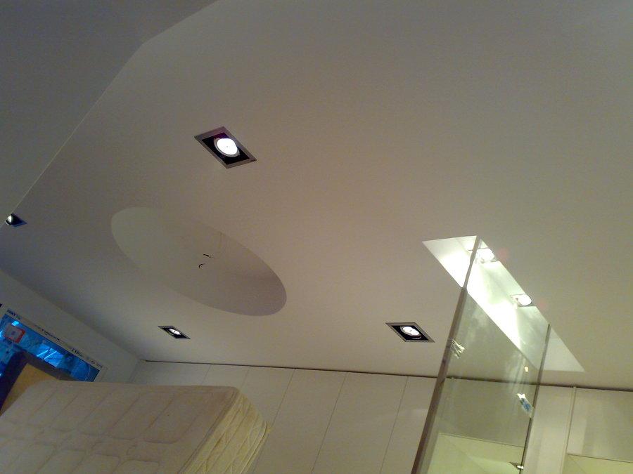 Espejo colocado en el techo