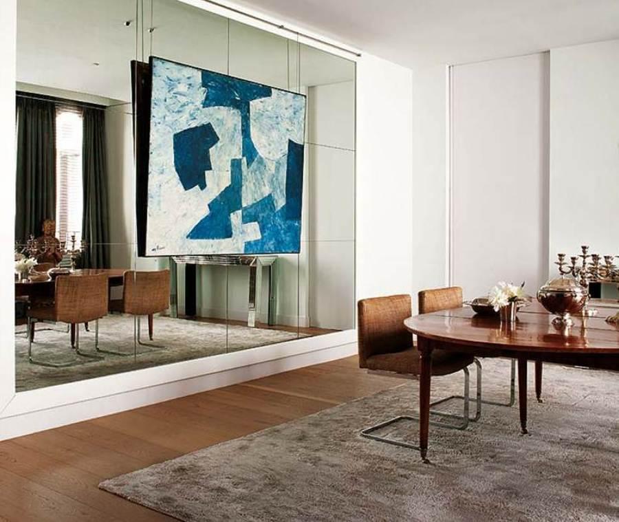C mo emplear espejos para agrandar tu casa ideas decoradores for Espejos grandes para salon