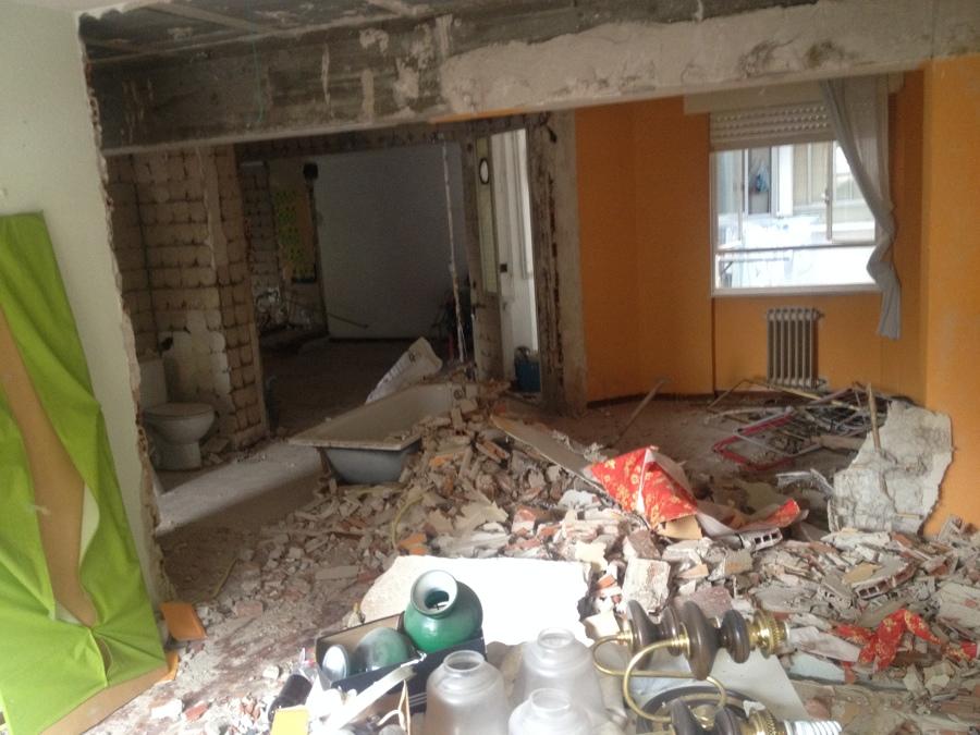 Estado durante la demolicion