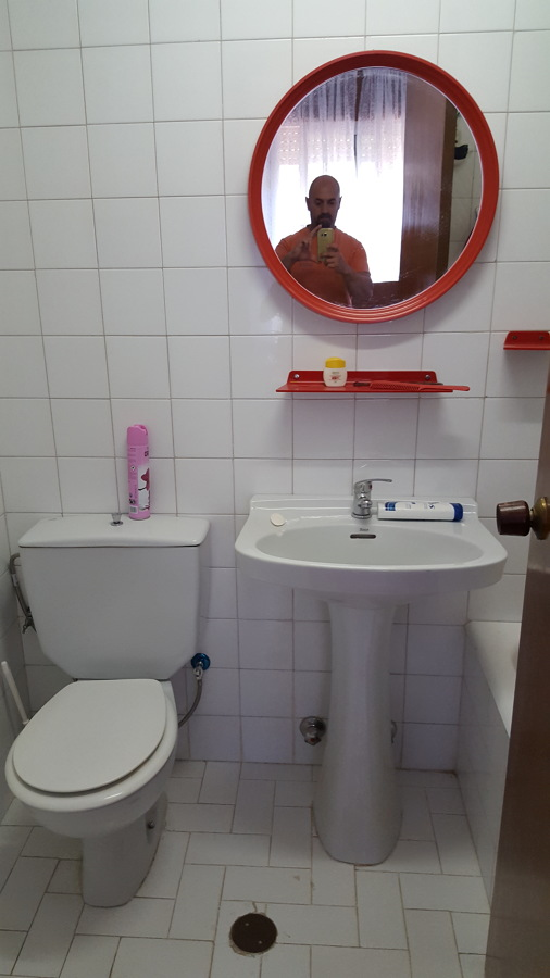 Estado habitual del baño.