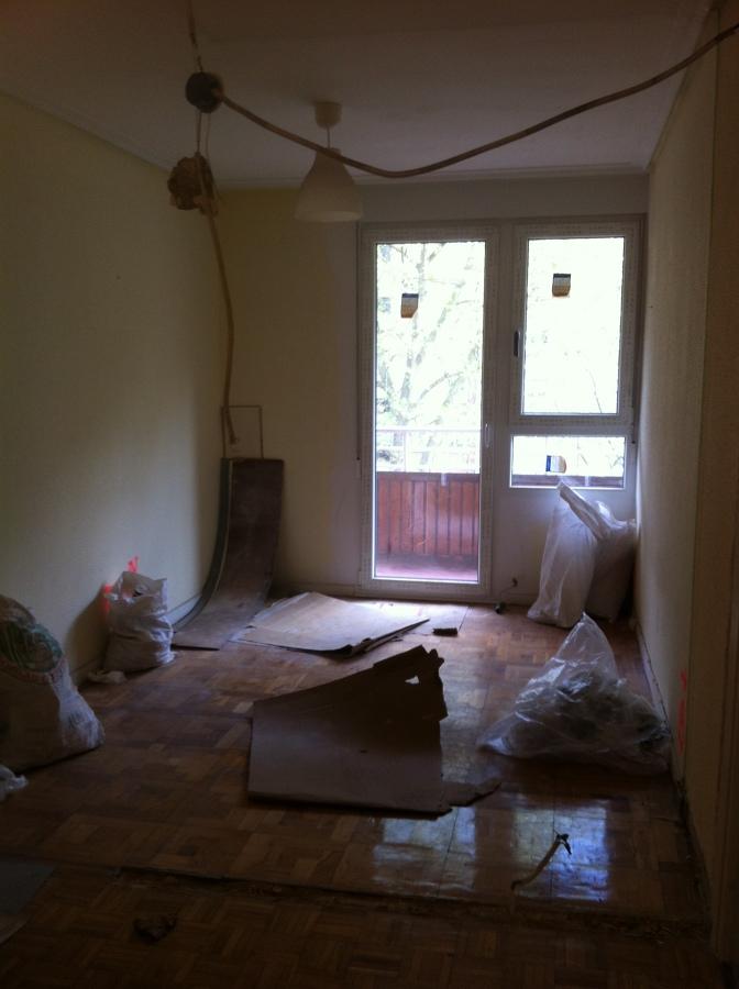 Estado inicial del apartamento, zona salón
