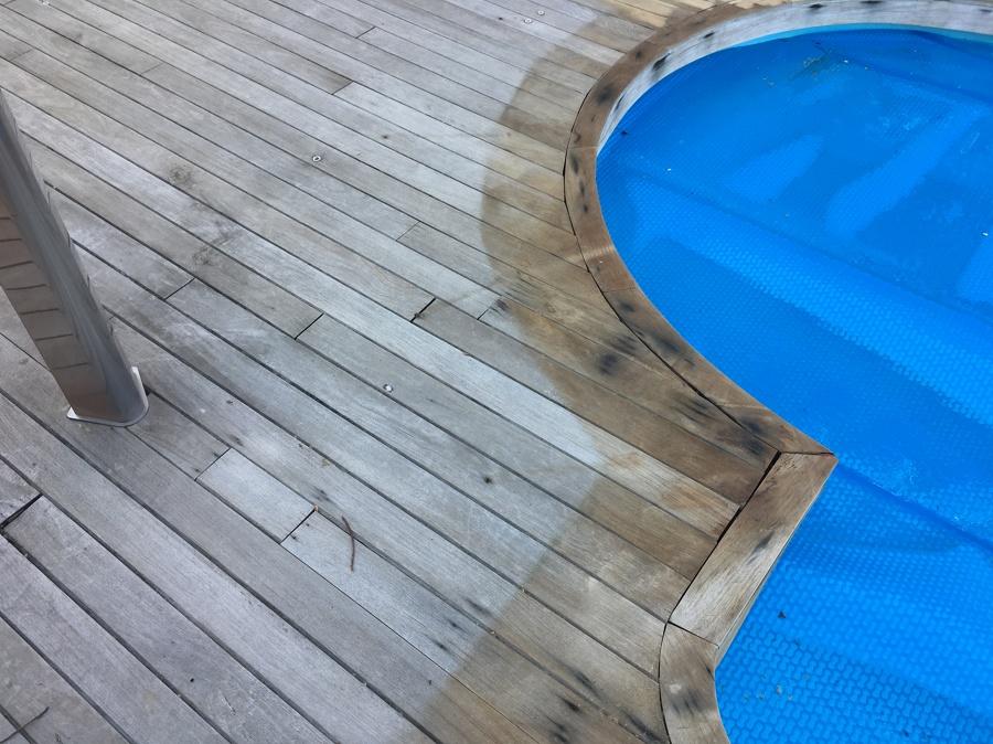 Estado inicial del pavimento desgastado por el sol y las inclemencias