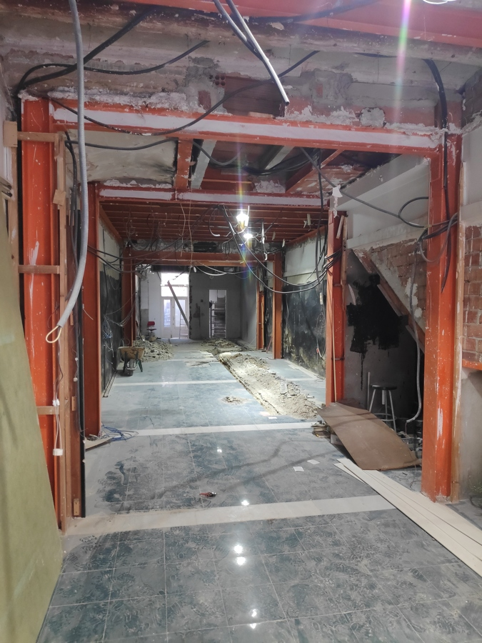 estado inicial después de demolición