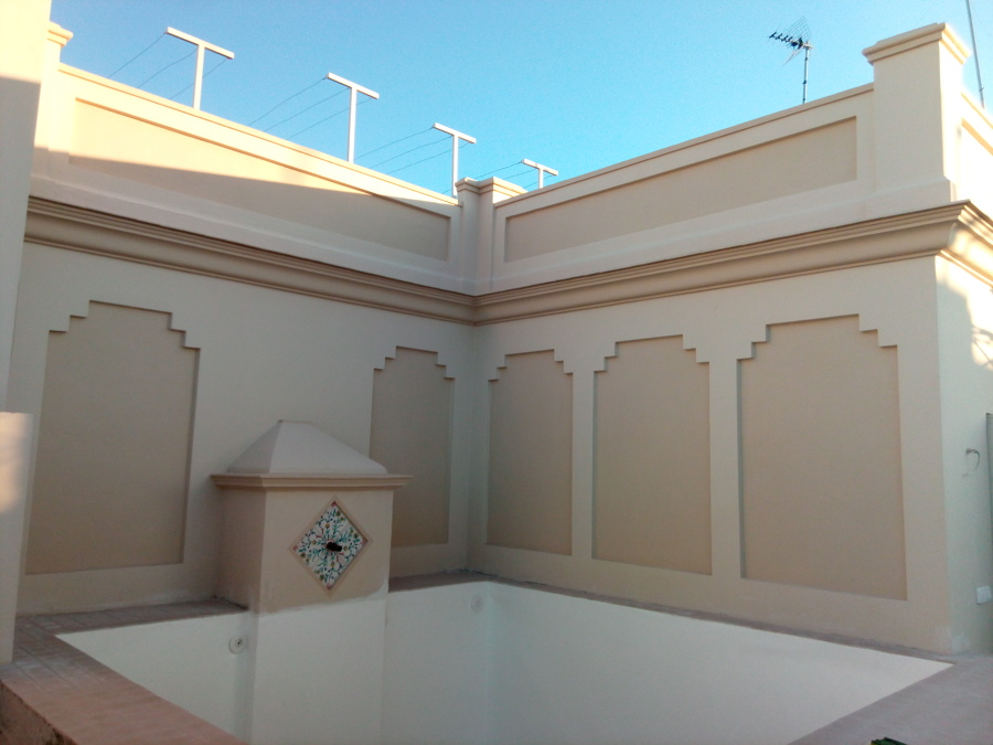 estado reformado de laterales de piscina