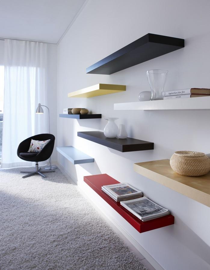 Aprende a colocar estantes sin dificultades ideas - Baldas para pared ...