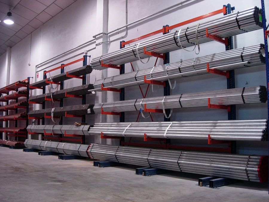 Foto estanteria cantilever para cargas largas de inteval - Estanterias de pvc ...