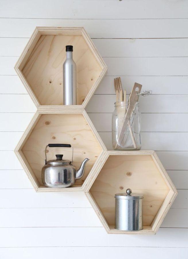 Estantería hexagonal