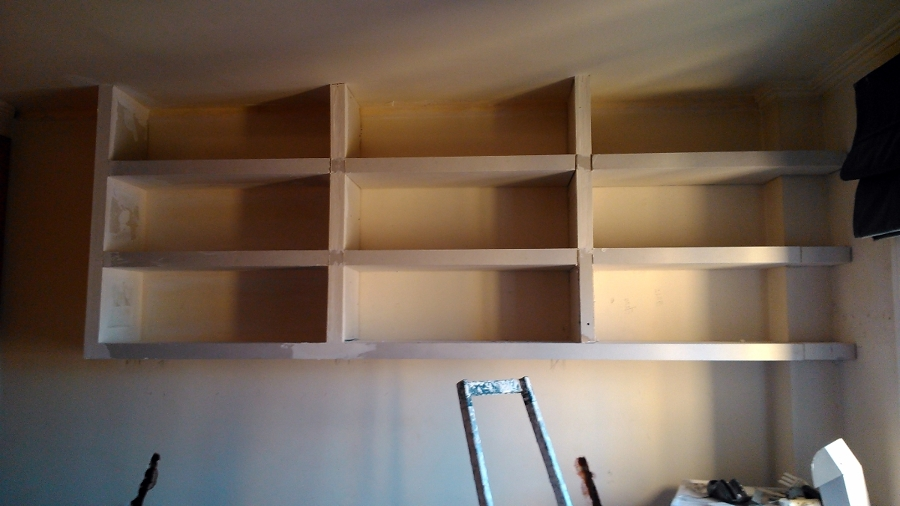 estantera librera pladur