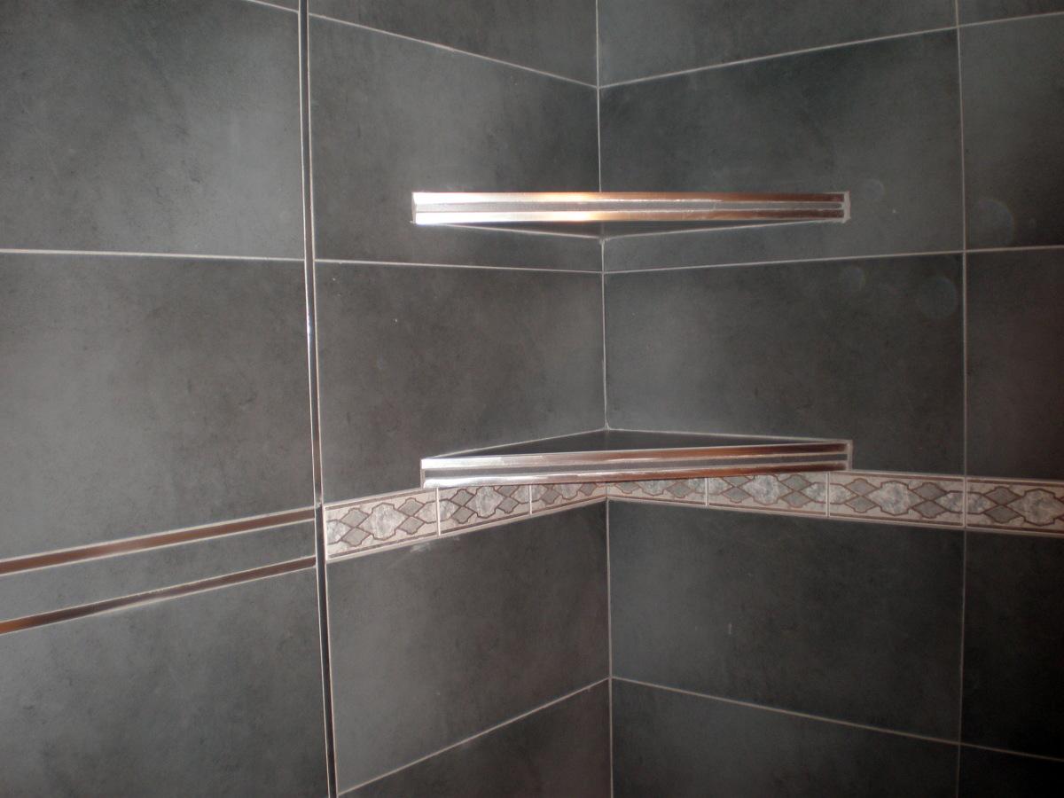 Foto estanterias de obra gres aluminio de corema - Estantes para interior ducha ...
