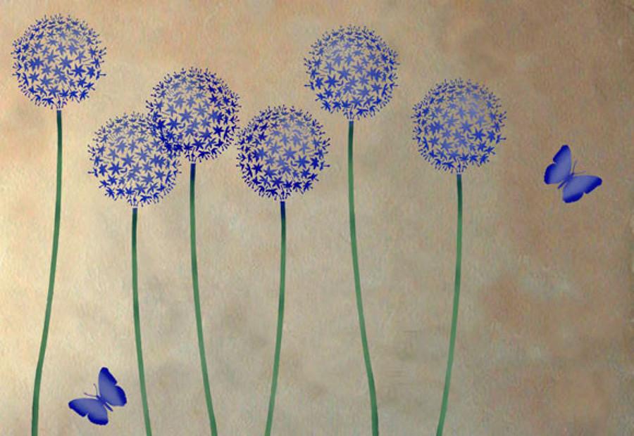 C mo realizar la t cnica del estarcido ideas pintores - Plantillas para pintar paredes ikea ...