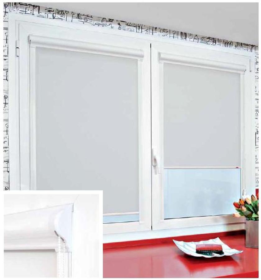 Estores guiados cristal con cofre para ventanas abatibles - Precio de estores ...