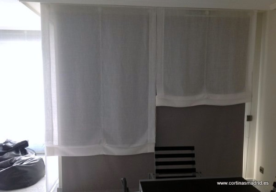 Foto estores paccetto en lino y cortinas enrollables - Cortinas estores enrollables ...