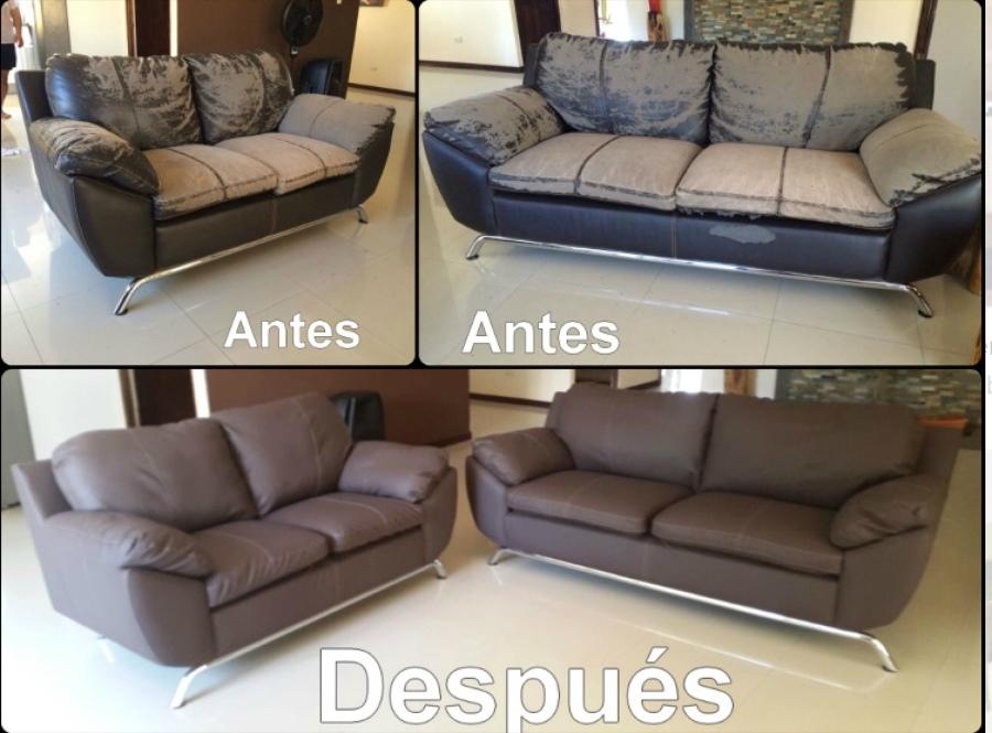 Estos sofás dieron un cambio espectacular.