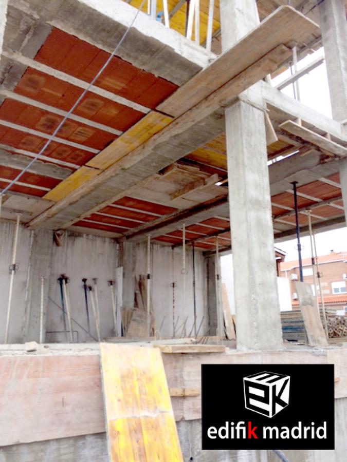 Estructura, construcción vivienda adosada