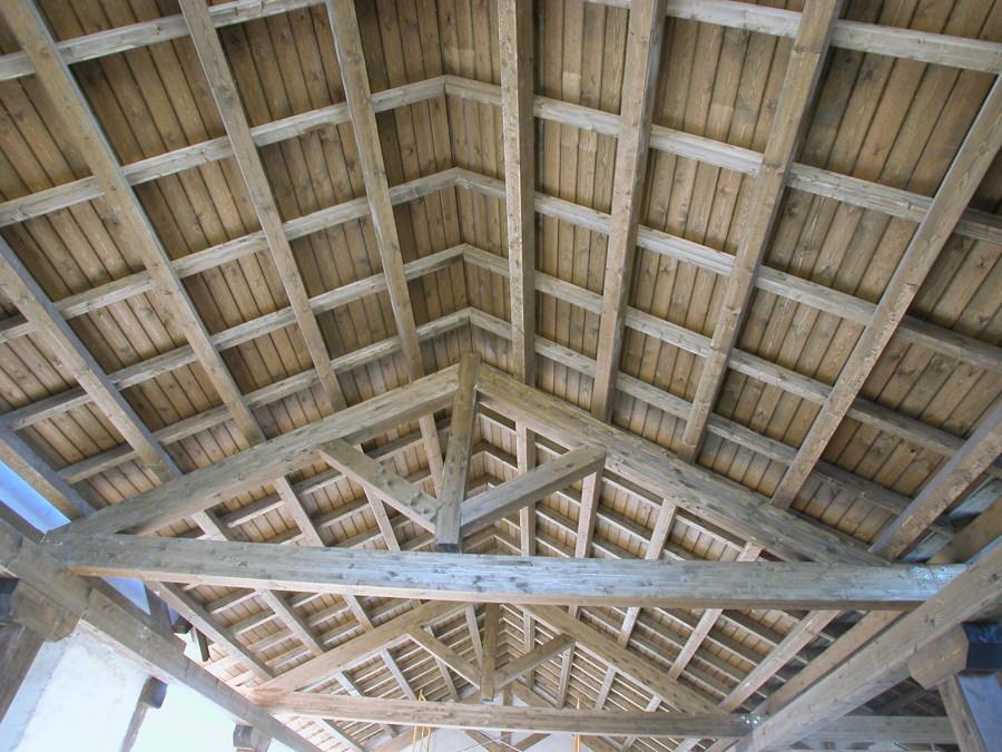 estructura cubierta, cercha española