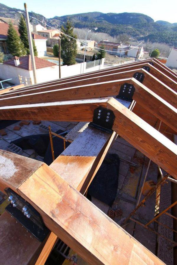estructura cubierta madera