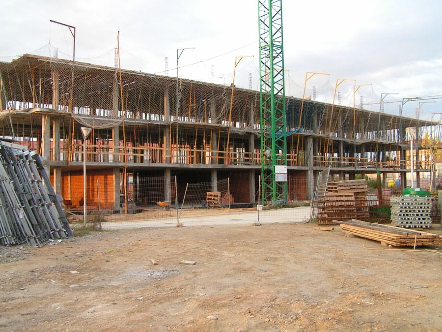 Estructura de hormigón en edificio
