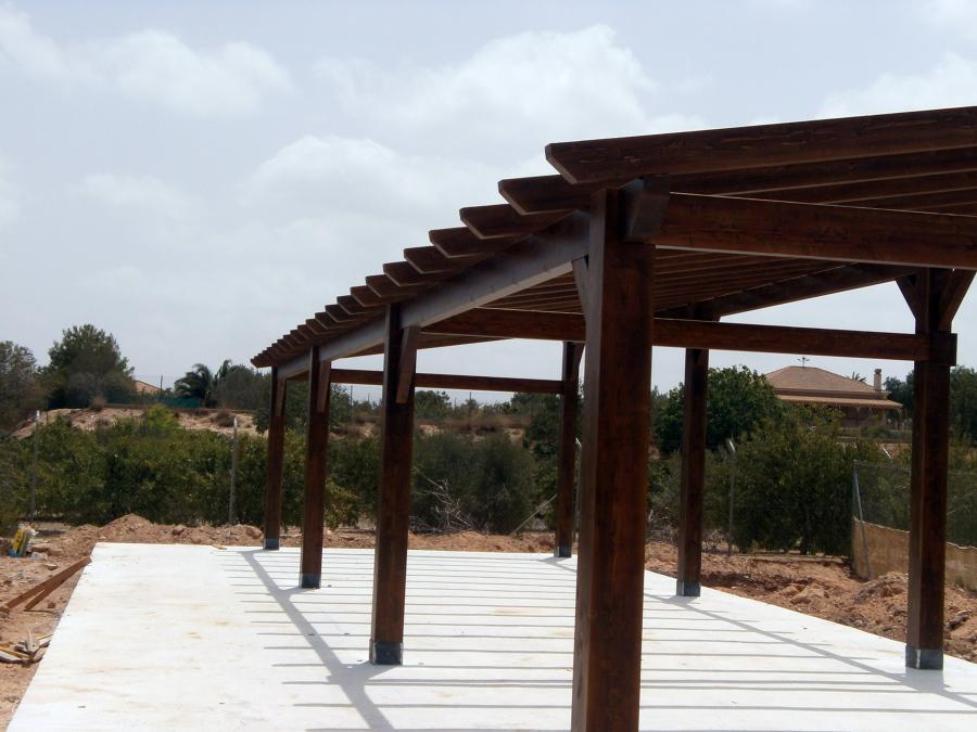 Foto estructura de madera laminada de aymur carpinteros - Estructura madera laminada ...