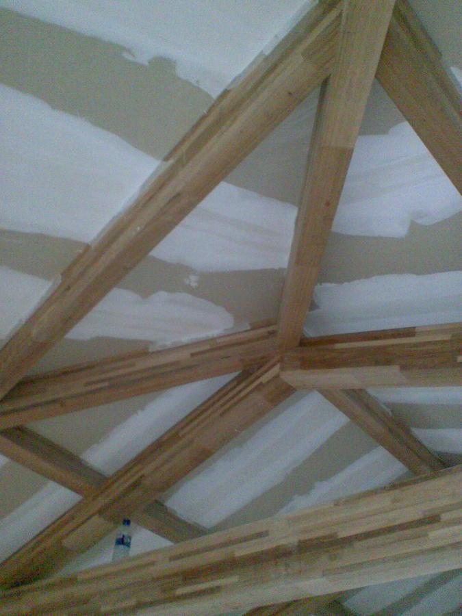 Estructura de madera techo