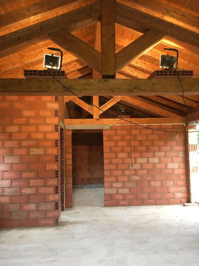 Estructura de madera vista