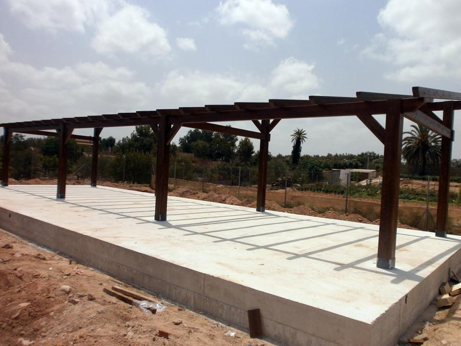 Foto estructura de madera de aymur carpinteros 457500 for Estructura de madera para piscina