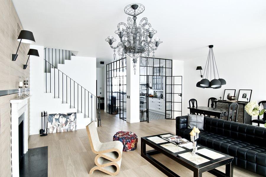 Separa ambientes con paneles y puertas de cristal ideas for Estructura de cocinas modernas