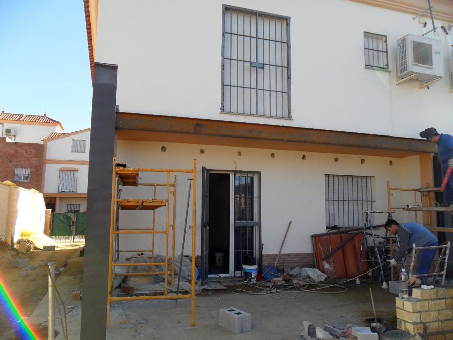 Foto estructura met lica para ampliaci n de vivienda de - Estructura metalica vivienda ...