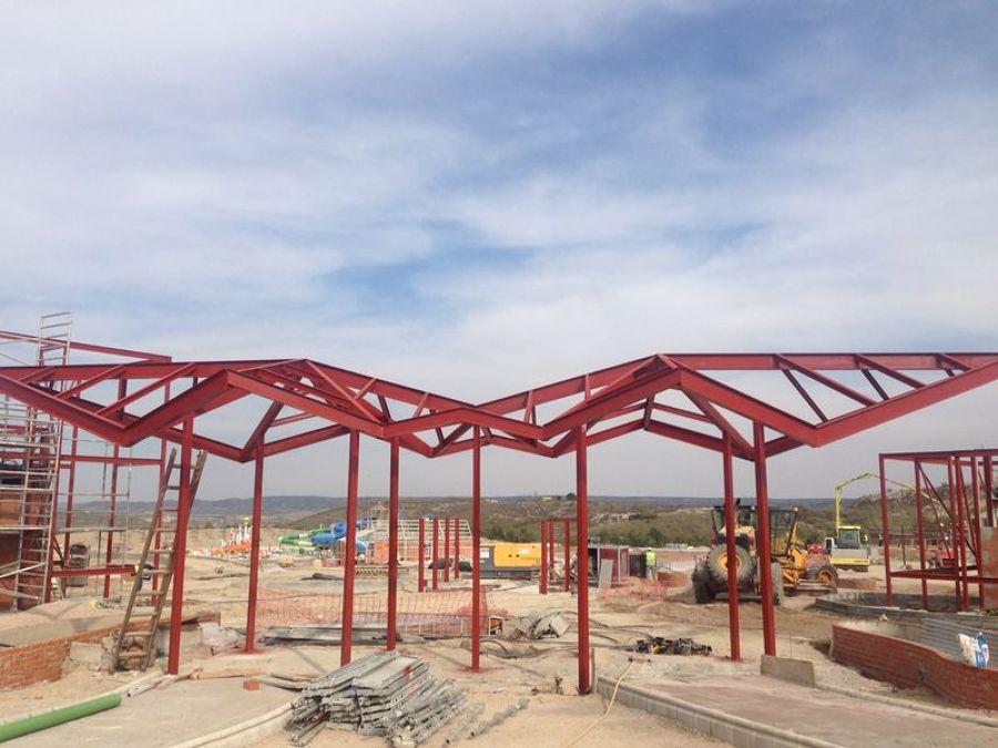 Foto estructura taquillas parque acu tico wargner madrid - Estructuras metalicas murcia ...