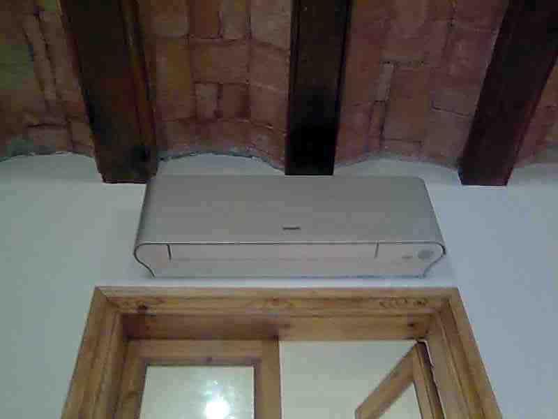 etado final techo y puertas madera