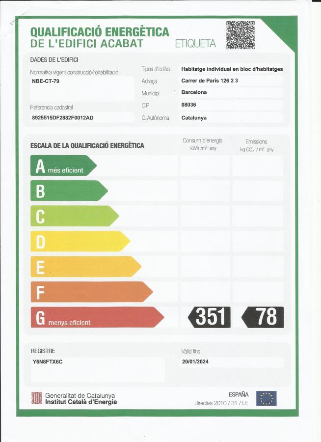 Etiqueta Eficiencia Energética Vivienda
