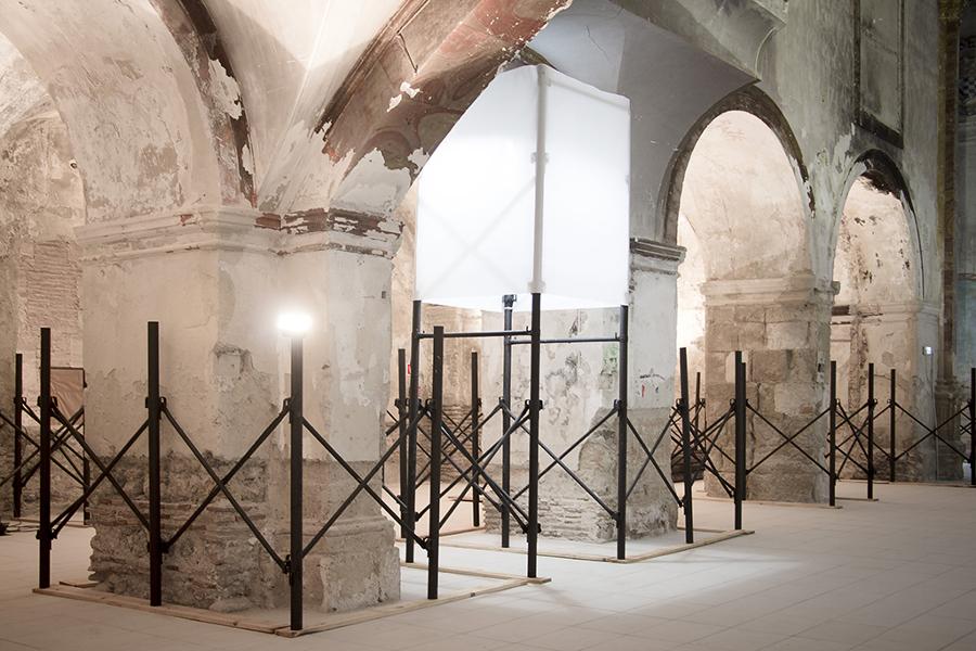 Exposición sobre obras de consolidación estructural en San Jerónimo de Baza.