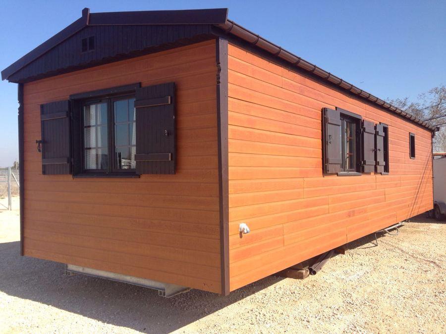 Proyecto de casas m viles seminuevas para campings con un - Casas prefabricadas con ruedas ...