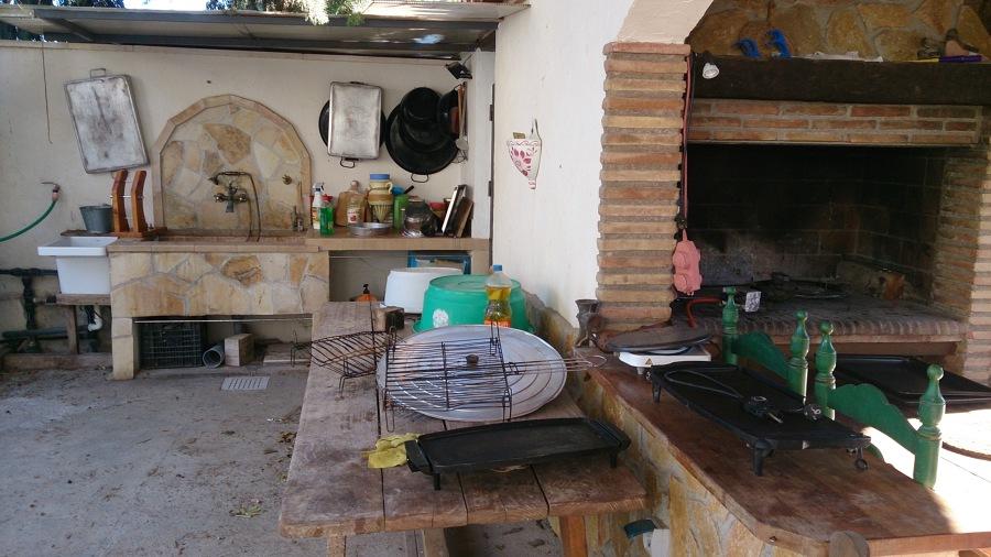 Barbacoa y horno de obra ideas alba iles - Barbacoa y horno de lena ...