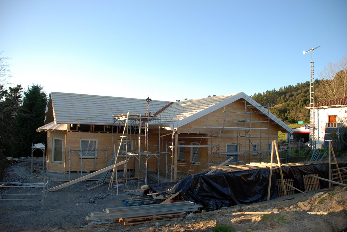Exterior  en construcción - vivienda prefabricada