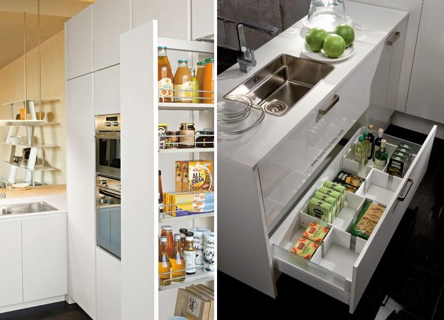Organiza tu cocina con m ltiples accesorios ideas for Accesorios para interiores de armarios de cocina