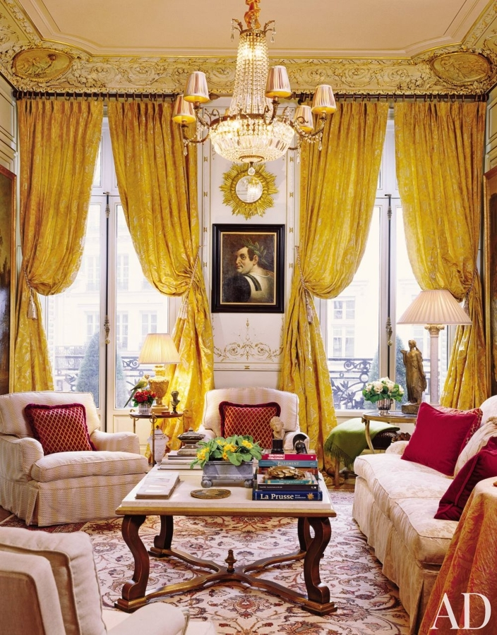 extravagant-apartment-french-paris-gold-curtains-gilded-moldings-chandelier-living-room-better-decorating-bible-blog-interior-decor