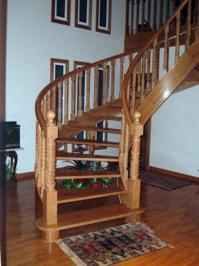 fabricacin y colocacin de escalera de caracol en madera de roble - Escaleras De Caracol