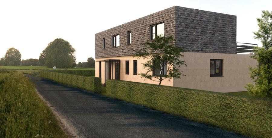 Casa cube de 250 m2 50 m2 de terraza en la coru a - Cube casas prefabricadas ...